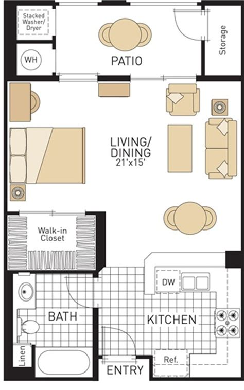 backyard apartment floor plans studio apartment plan and layout design with storage