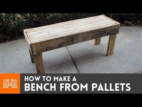 making a bench how to make a bench from reclaimed pallets youtube
