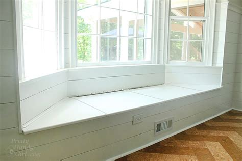 bay window seat building a window seat with storage in a bay window