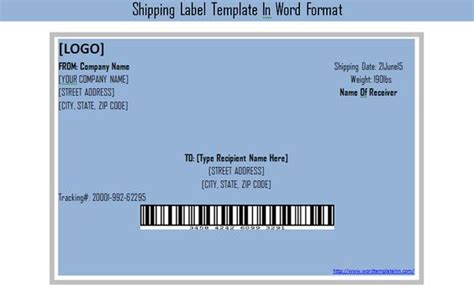 get shipping label template in word format excel project