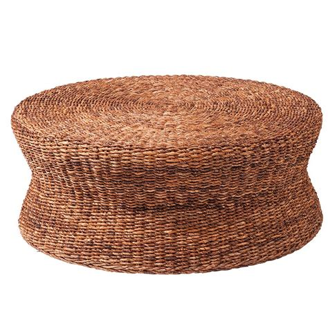 rattan round ottoman furniture gt living room furniture gt wicker gt two tone wicker