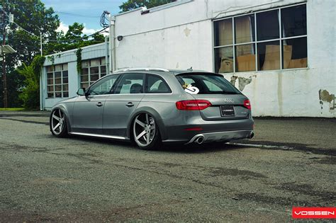 audi slammed slammed audi a4 allroad on vossen wheels