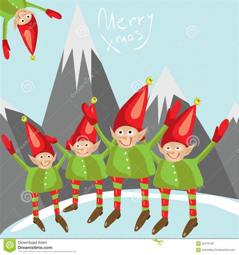 little santa helpers wish you a merry christmas vector