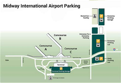 chicago midway airport map midway airport parking guide find cheap airport parking near mdw
