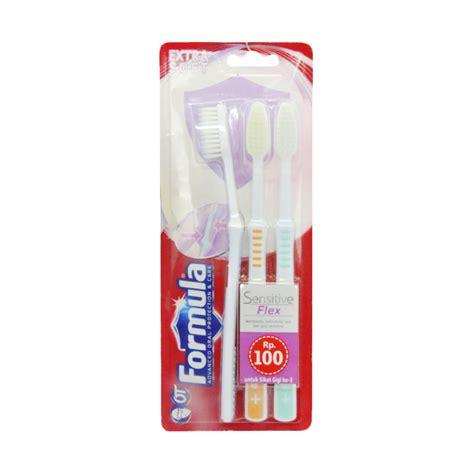 Sikat Gigi Formula Helm jual formula sensitive flex pack sikat gigi harga kualitas terjamin blibli