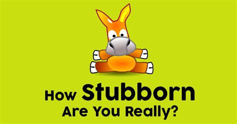 how do you a stubborn how stubborn are you really quizdoo