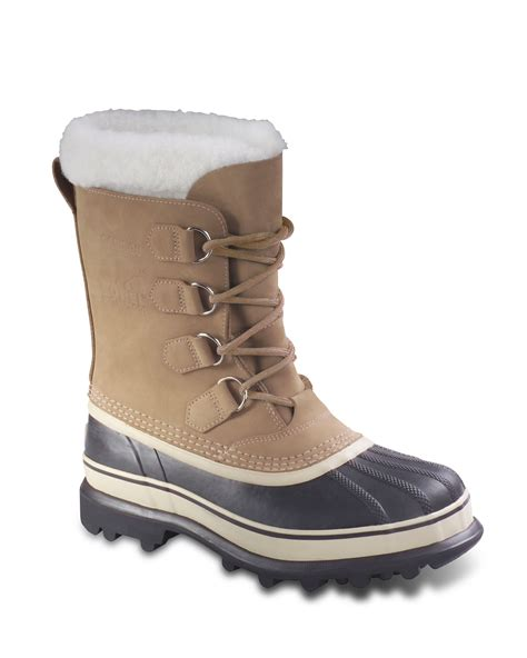 snow boot sorel womens caribou snow boots in beige buff lyst