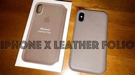 Apple Iphone X Leather apple iphone x leather folio unboxing look