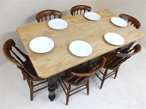 antique pine kitchen table 6 seater in tables and chairs