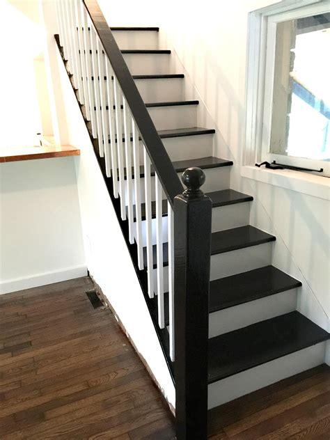 black staircase facci designs how to paint a staircase black white