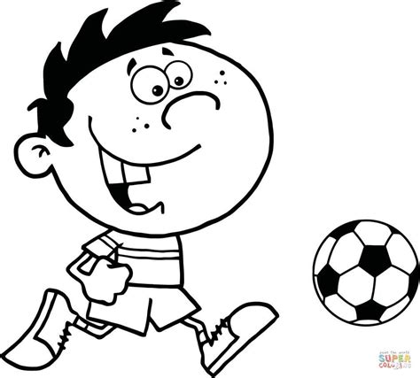 soccer coloring page soccer boy with coloring page free printable