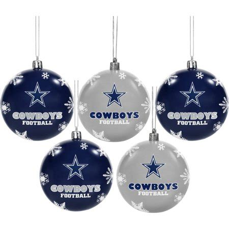 walmart ornaments pack forever collectibles 2016 nfl pack shatterproof ornaments dallas cowboys walmart