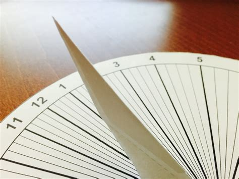 How To Make A Sundial Out Of Paper - a paper sundial in 15 minutes mach 30
