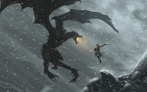 Dragons Images Attack Hd Wallpaper by Skyrim Wallpapers Wallpaper Cave