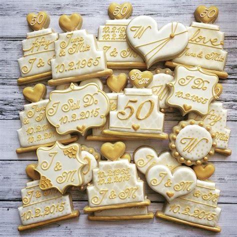 Wedding Anniversary Ideas Sugar by Best 25 50th Anniversary Cookies Ideas On