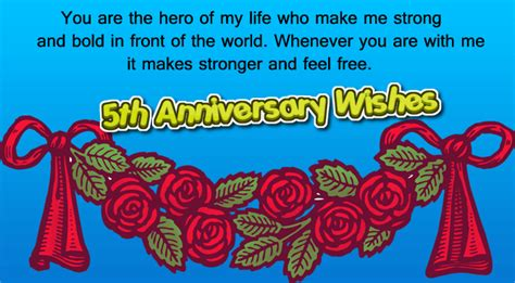 5th Wedding Anniversary Quotes For by 5th Wedding Anniversary Wishes For Husband Wishes4lover