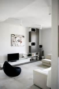 living room apartment decoration black painted walls