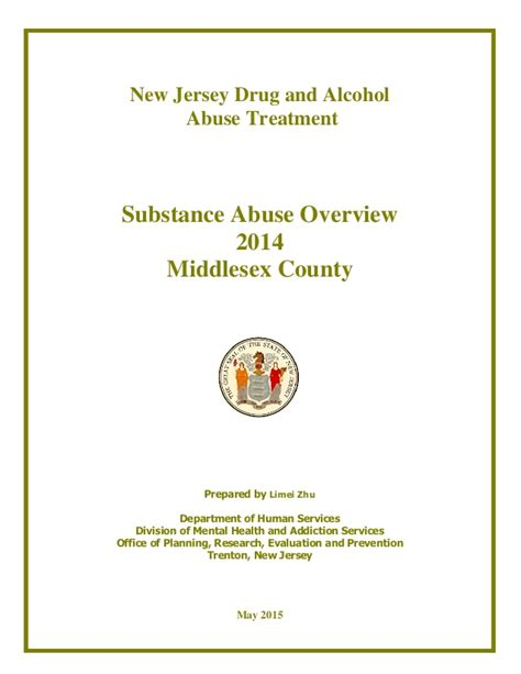 Middlesex County Nj Records Middlesex County Nj Substance Abuse Stats