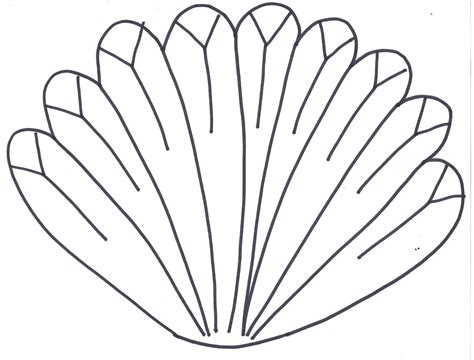 turkey feather template free coloring pages of turkey feather