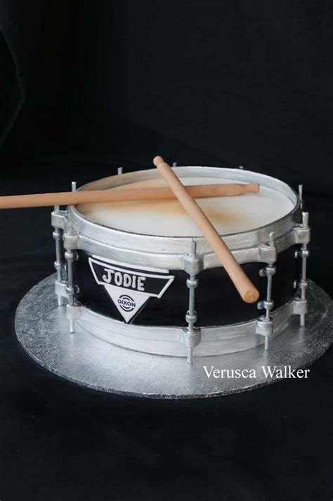 tutorial snare drum dixon drum cake by verusca on deviantart