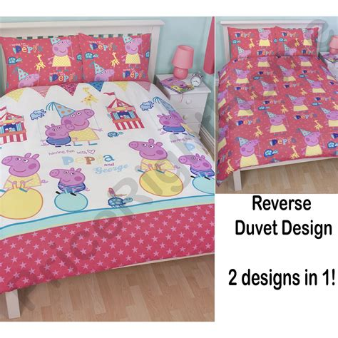 peppa pig blackout curtains peppa pig and george bedding single double junior