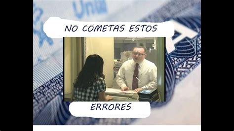 errores comunes en la entrevista para visa americana doovi - Preguntas Frecuentes En Una Entrevista Para Visa Americana
