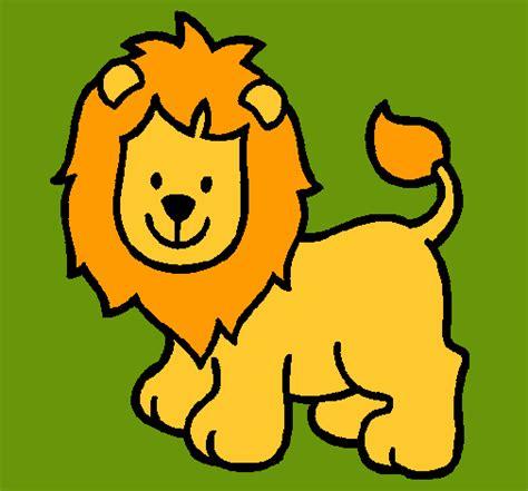 dibujos infantiles leones dibujo de le 243 n pintado por lion en dibujos net el d 237 a 16