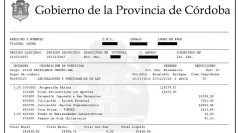 Caja De Jubilaciones De Crdoba Aumento Febrero 2016   dietazo los legisladores cordobeses cobrar 225 n 84 mil en