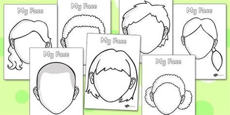 kindergarten activities my face blank faces templates face features eye template