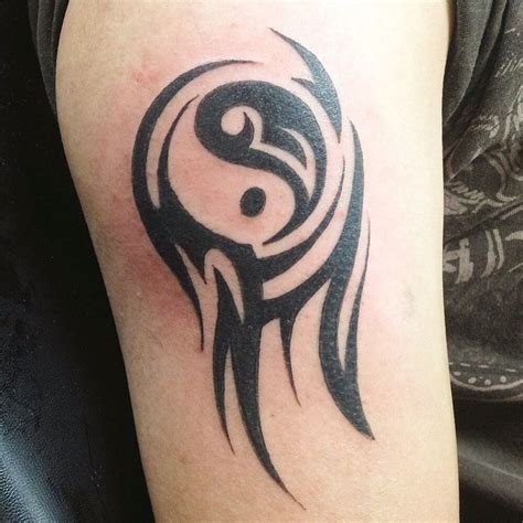yin and yang tribal tattoos 10 best images on kanji