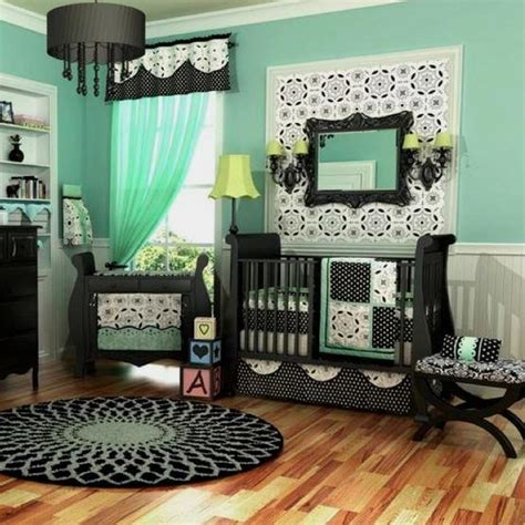 Pinterest Nursery Decor Mint And Black Nursery So Baby Pinterest