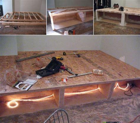 Platform Bed Construction Look Diy Platform Bed With Storage Platform Beds