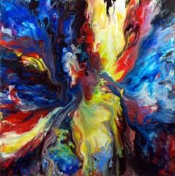 cool paintings colourful acrylic fluid painting by mark chadwick on deviantart