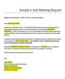 Business Meeting Request Email Template business e mail format free premium templates