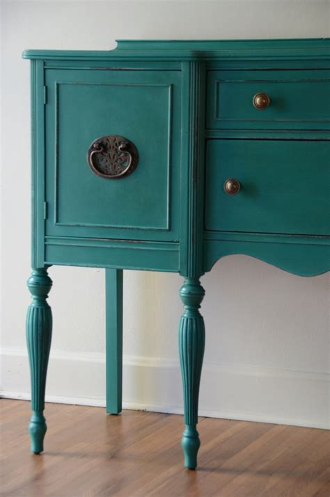 teal colored couches hand painted sideboard buffet or entryway furniture by