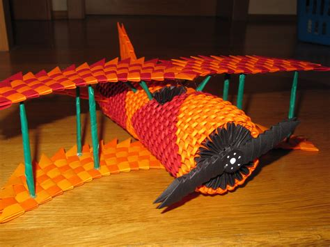 3d Origami Airplane - 3d origami plane by justtree on deviantart