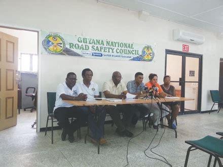 theme for education month 2014 in guyana national road safety council unveils activities for road