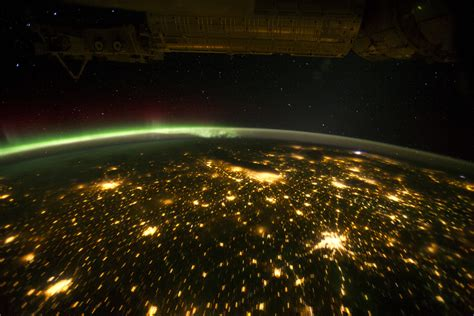 midwest city lights midwestern usa at with borealis image of