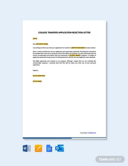 employee transfer letter inter company template