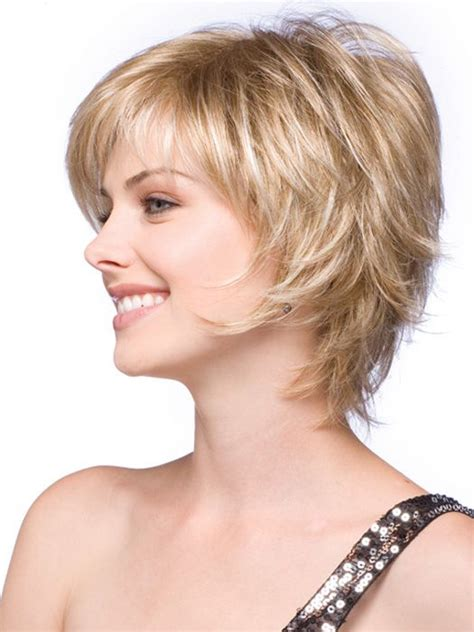feathered hair cuts mediem hair sky synthetic wig basic cap caramel bobs and layering