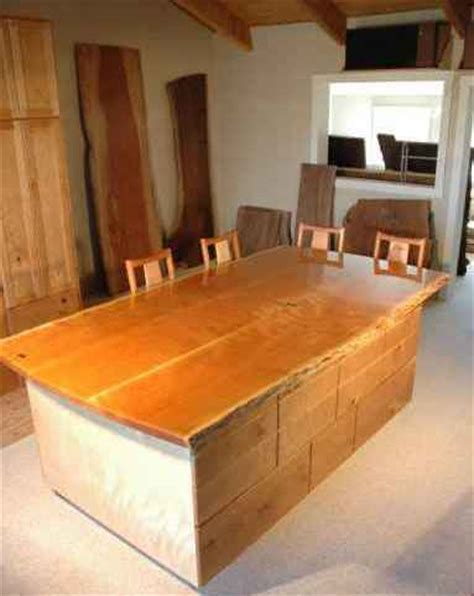 cherry kitchen islands cherry slab custom kitchen island by dumond s custom