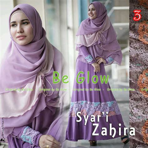 Pusat Grosir Baju Muslim Maryam Syari Jaguard 3 zahira by be glow 3 baju muslim gamis modern