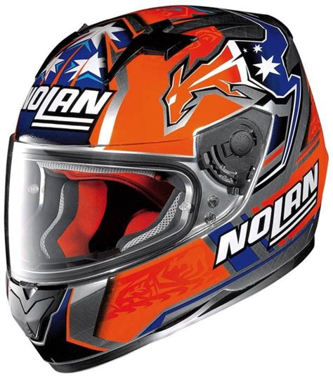 Helm Nolan N64 Stoner Suzuka Chrome Not Arai Shoei Shark Agv casey stoner nolan n64 gemini suzuka replica helmet replica race helmets