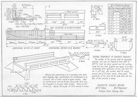 plan concrete concrete bridges