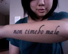 non timebo mala tattoo non timebo mala psalm 23 in quot i will fear no evil