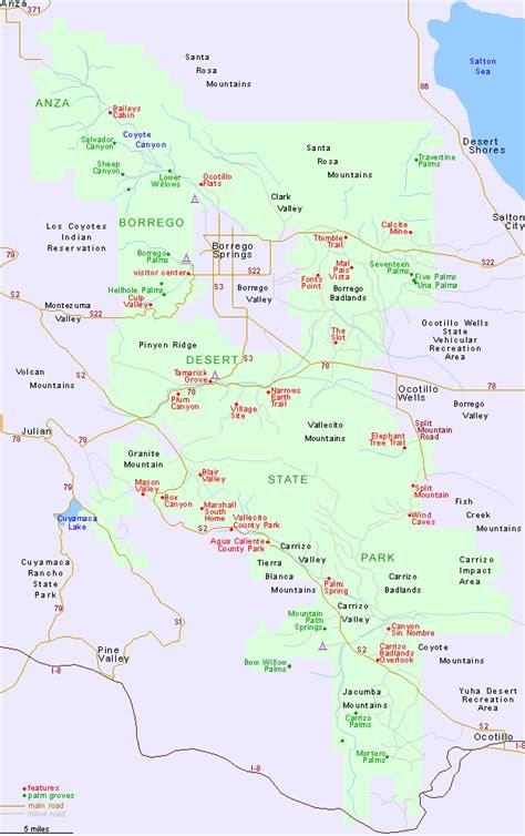 deserts map anza borrego desert state park map california toursmaps