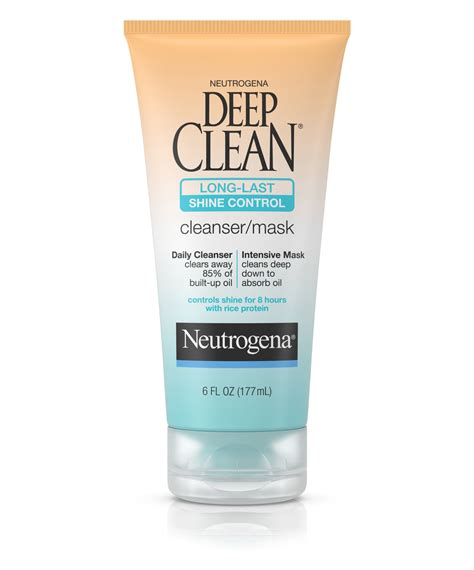 deep clean deep clean 174 long last shine control face cleanser mask