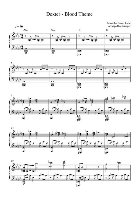 theme music dexter 1000 images about partition piano on pinterest