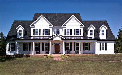 house plans country farmhouse 3 story 5 bedroom home plan with porches southern house plan