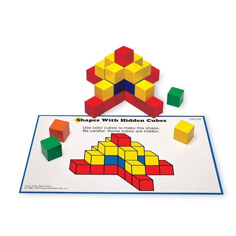 spatial pattern in maths creative color cubes spatial thinking learning activity
